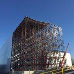 Construcción del almacén robotizado en la planta de Gandia