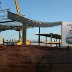 Nave en construcción para las nuevas instalaciones de Camas, Sevilla